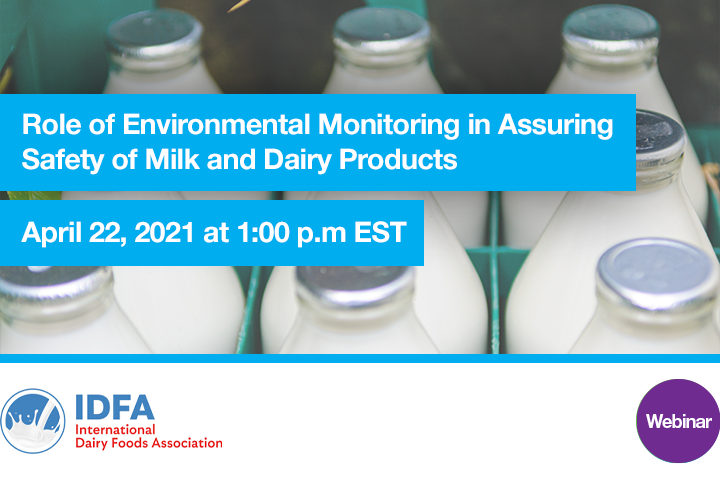 events webinar Role of Environmental Monitoring in Assuring Safety of Milk and Dairy Products 1