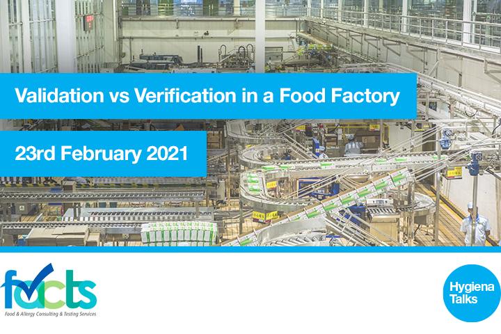 events webinar Validation vs Verification in a Food Factory 1